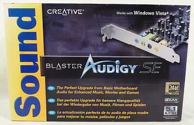 NEW SEALED Creative Sound Blaster Audigy SE PCI Stereo 7.1 24-Bit Sound Card
