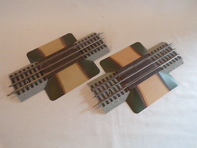 2 Lionel Fastrack Road Crossings Train Track Layout Acc