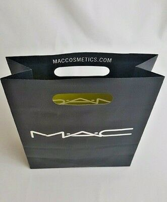 MAC Cosmetics Paper Retail Shopping Bag Small 8 X 9 X 9""