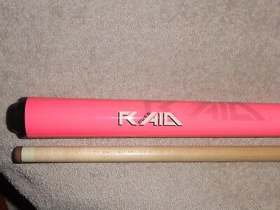 RAID BY FALCON CS-04 FLUORESCENT PINK 19 oz. 2 PIECE POOL CUE, WITH R650 SHAFT.
