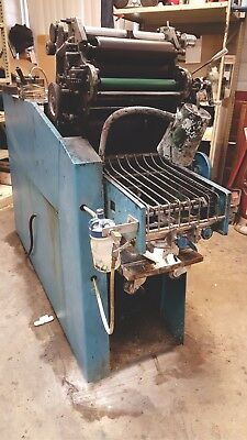 Chief 17 Printing Press, running, with ink, spare parts, supplies and manual