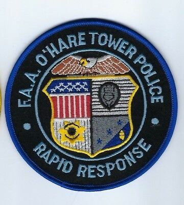 FAA O'Hare Airport Chicago IL Illinois Tower Police Rapid Response patch - NEW!