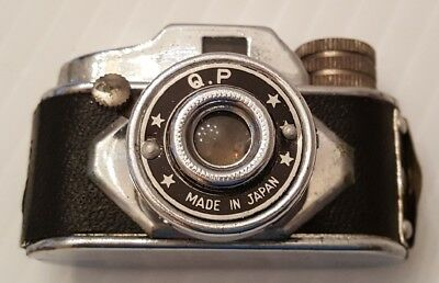 """Vintage Subminiature Camera Hit Type """"Q.P.""""  Made in Japan ~ with Original Case"""