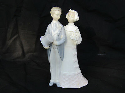 Vintage Lladro Bride and Groom Figurine