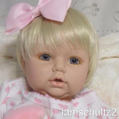 "Precious Cuddly Adora 18"" Blond Girl Newborn Baby Doll - For Reborn or Play"