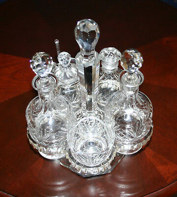 American Brillient Period > All Crystal > Victorian > Castor Set > Signed