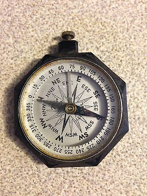 Vintage Taylor Leedawl USA Black Bakelite Pocket Compass