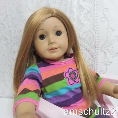 American Girl Doll 1579OT With Reddish Hair, Brown Eyes, Pierced Ears and Chair