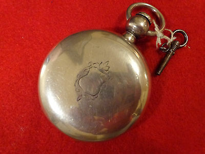 Early Coin Silver Pocket Watch Size 18 - American Watch Company P.S. Bartlett