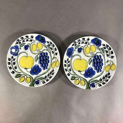 Pair of ARABIA 'Paratiisi' Salad Plates Designed by BIRGER KAIPIAINEN, Finland