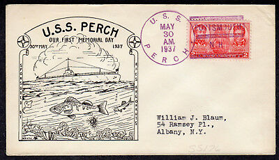 """1936 USS Perch (SS-176) Memorial Day """"Portsmouth/N.H.""""  - SCUTTLED 1942 A569"""