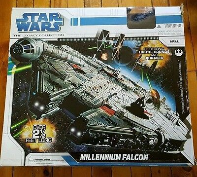 "Star Wars Large 2.5' New Sealed In Box ""millennium Falcon "" By Hasbro"