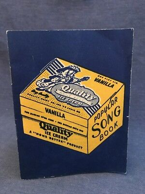 Rare QUALITY DAIRY CO ST.LOUIS MO Ice Cream Vanilla POPULAR SONG BOOK Milk 3x5