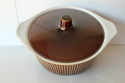 Vintage 13 pc Villeroy & Boch Luxembourg Brown rib pattern 11 pickup Hahndorf
