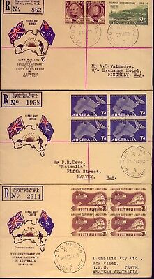 1953+   3  Scarce & Lovely  Registered First Day Covers    No  Reserve!!!