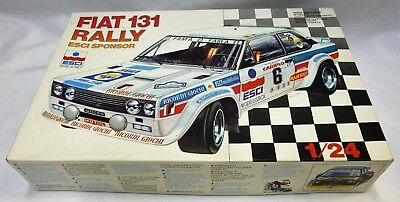 Vintage ESCI Sponsored Fiat 131 Rally Model Kit 3031 Unbuilt Made In Italy 1/24
