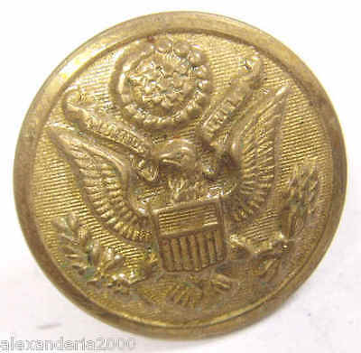 early 1900s antique scoville mfg co golden metal eagle great seal button 43729