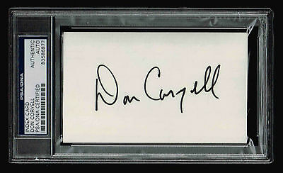 Don Coryell Signed Index Card  Autograpghed Psa/dna 83586877