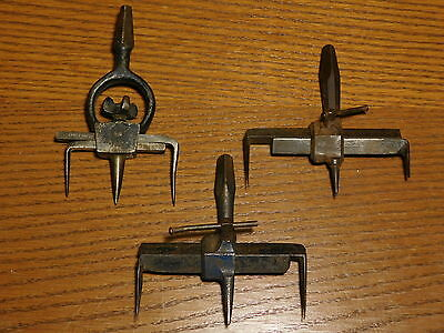 LOT OF 3x PCS - Henry Boker Antique Brace and Bit Circle Scribe Tools - SCARCE