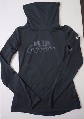 """We Run San Francisco"" Nike Pro Hyperwarm Infinity 620415-010 Training Top Sz M"