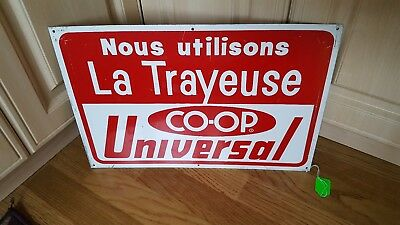 Vintage COOP UNIVERSAL MILKING EQUIPMENT DAIRY Advertising SIGN FRENCH