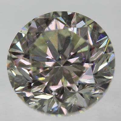 Certified 2.06 Carat I VS1 Round Brilliant Enhanced Natural Loose Diamond 7.72mm
