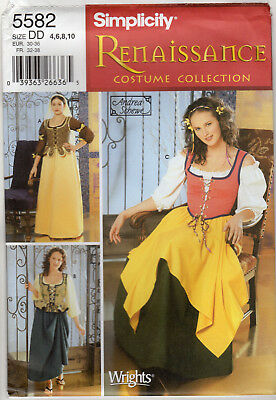 NEW 2003 Simplicity Renaissance Costume Collection Sewing Pattern 5582 Halloween  sc 1 st  PicClick & SIMPLICITY Halloween Costume Sewing Pattern #9895 Mu0026Ms Family Set ...