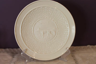 Belleek Fine Parian China 1983 Christmas Plate - The Red Fox - No Box