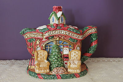 Fitz And Floyd 1993 Teapot - Twas The Night Before Christmas