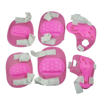 New Pink Knee Elbow Wrist Ski Skate Pad Kit Safety Protective Gear Pad T5E8 B5A8