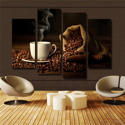 Large Canvas Painting Coffee Modern Home Wall Art Decor Picture Print Unframed