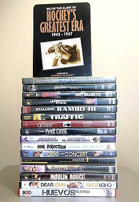 17 Movies and Music All Mainstream Action Romance DVD Lot - Free Shipping