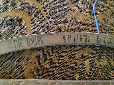 VTG Advertising Wood Clothes Hanger Williams Cleaning Works The Dalles Oregon