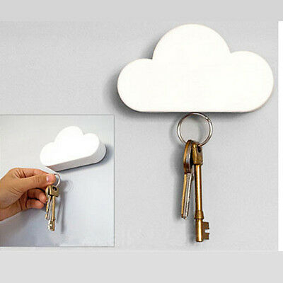 Cute Creative Cloud-shaped Magnetic Keychain New White Cloud Novelty Key Holder
