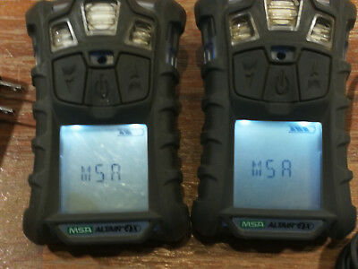 Lot of 2 x MSA Altair 4 X Multi gas Monitor Detectors Meters