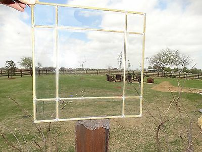 """17828 Vintage Leaded Clear Beveled Glass Panel 16.5"""" x 16.5"""""""