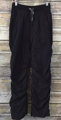 Ivivva Girls Live To Move Pants Size 14 Black Lined Dance Yoga (M1)