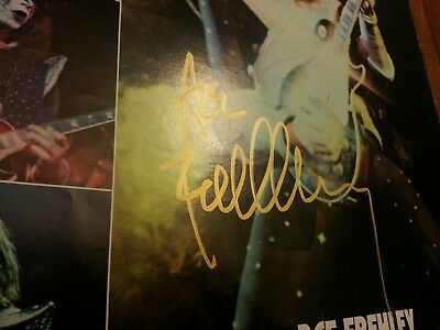 KISS signed ACE Frehley signed rare vintage insert