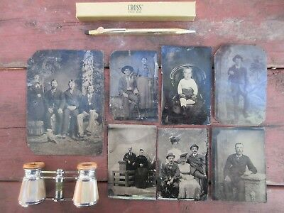 Vintage Photograph Lot Tin Type