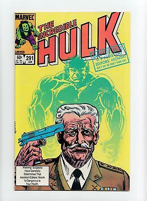 Incredible Hulk #291 Al Milgrom Cover (Marvel 1984) NEAR MINT-