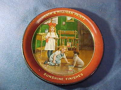 Early 20thc HEATH + MILLIGAN PAINTS Advertising TIP TRAY Sunshine Finishes