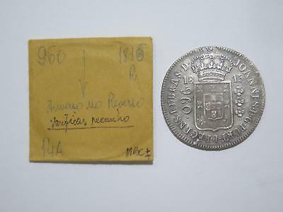 Brazil 1815 R 960 Reis Double Struck ?/8 Reales Ex:kurt Prober Coin Collection