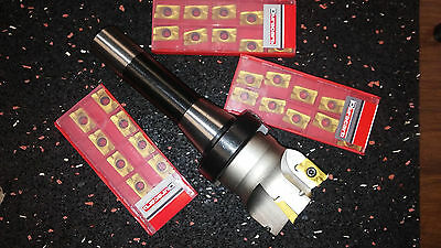 "3"" 90 degree indexable face shell mill,face milling cutter APKT w.R8 arbor"