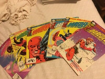 Daredevil Lot 181 182 183 184 189 190  7.5-8.5 Elektra Punisher Frank Miller