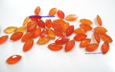 AAA Quality 25 Piece Natural Carnelian 4x8 mm Marquise Cut Loose Gemstone