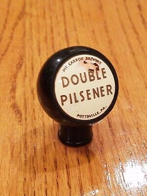 1930s MOUNT CARBON DOUBLE PILSENER  BEER ball tap knob from Pennsylvania PA !