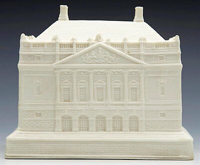 Antique Parian Tobacco Jar Modeled As Queen Mary's Dolls House 19Th C