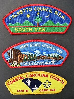 Boy Scouts Of America 3  Bsa Csp Council Shoulder Patches South Carolina Lot 2