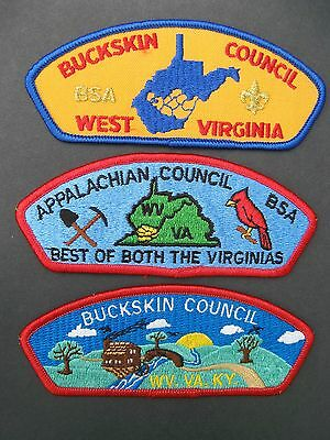 Boy Scouts Of America 3  Bsa Csp Council Shoulder Patches West Virginia Kentucky