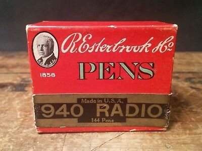 ORIGINAL FULL BOX of Vintage Esterbrook #940 Radio Dip Pen Nibs, USA, 144 Pens